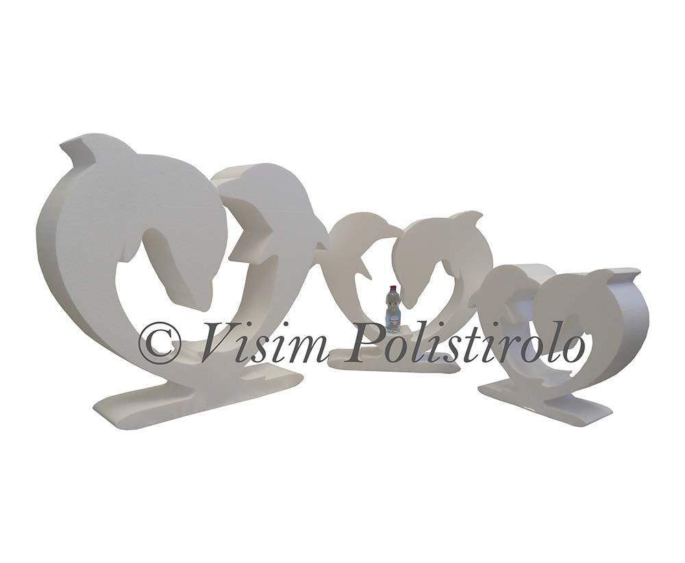 delfini  polistirolo sagoma decorazioni allestimenti scenografie addobbi