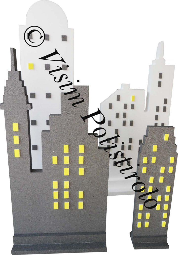 grattacieli1 polistirolo sagoma decorazioni allestimenti scenografie