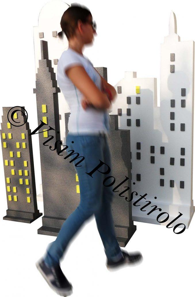 grattacieli3 polistirolo sagoma decorazioni allestimenti scenografie