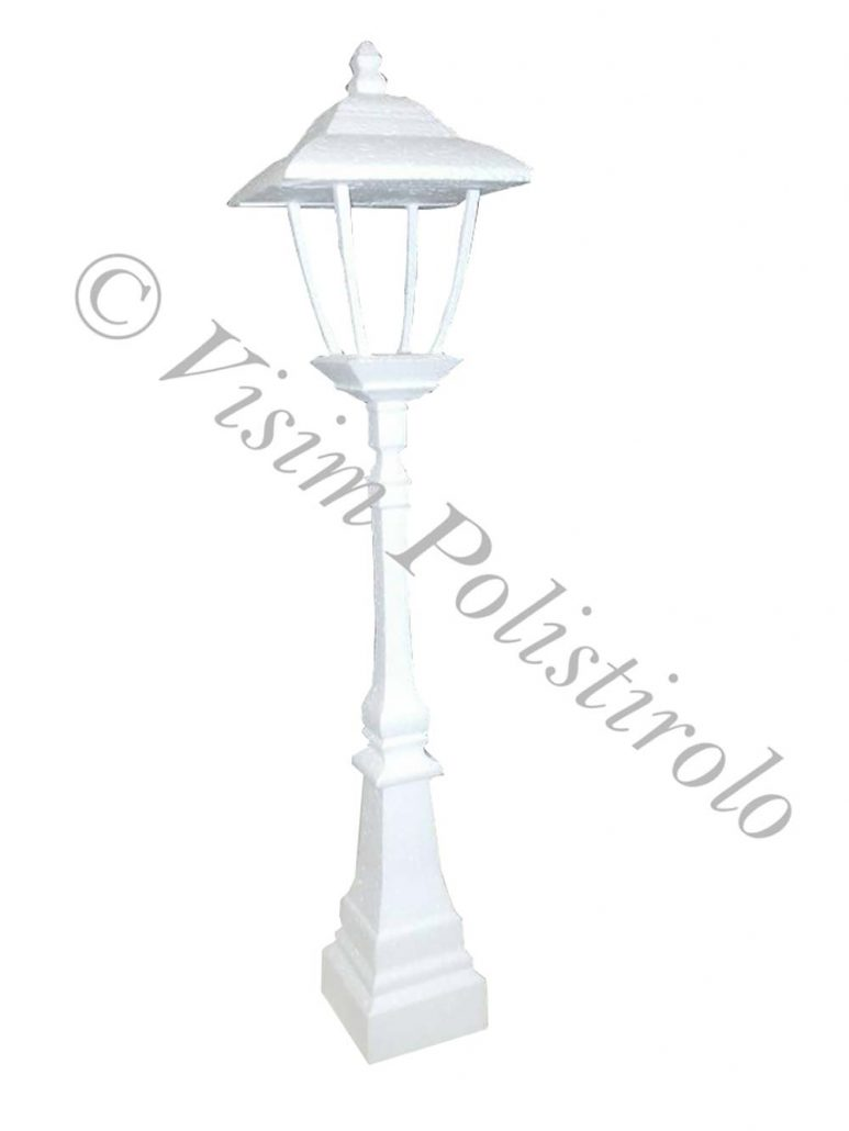 lampione polistirolo allestimenti scenografie 3c