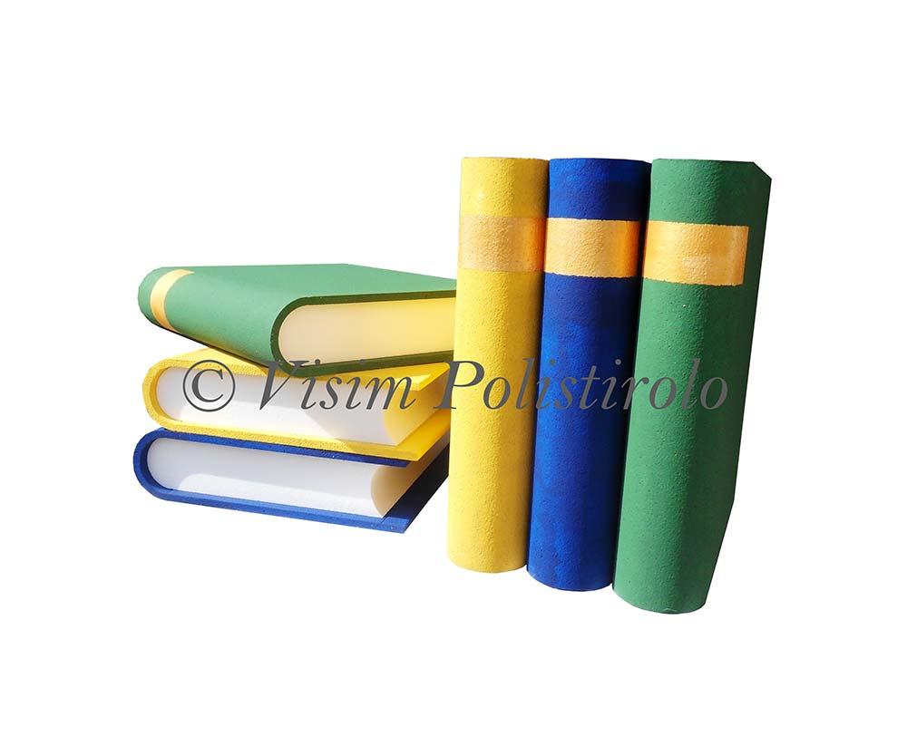 libri polistirolo oggetti 3d casa interni allestimenti