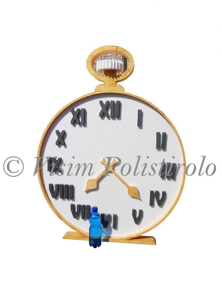 orologio polistirollo 3d decorazione