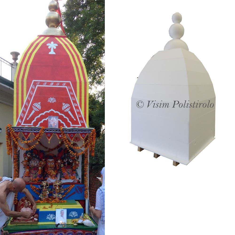 tempio polistirolo 3d decorazione