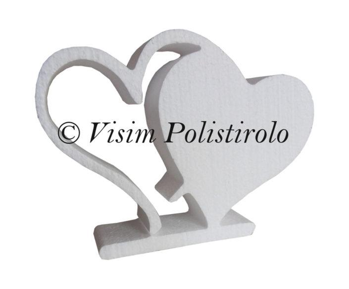 cuore amore polistirolo visim