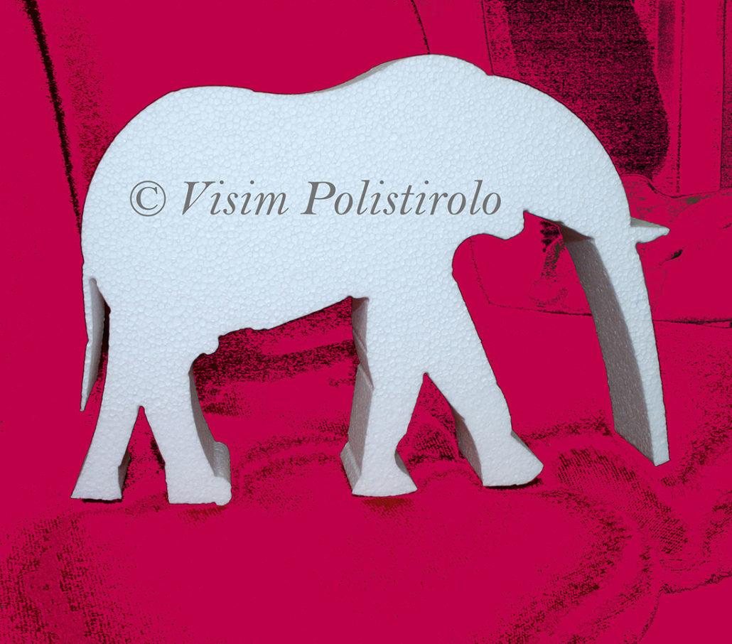 elefante animali polistirolo festa