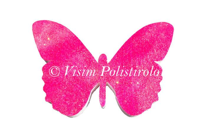 farfalla polistirolo rosa visim