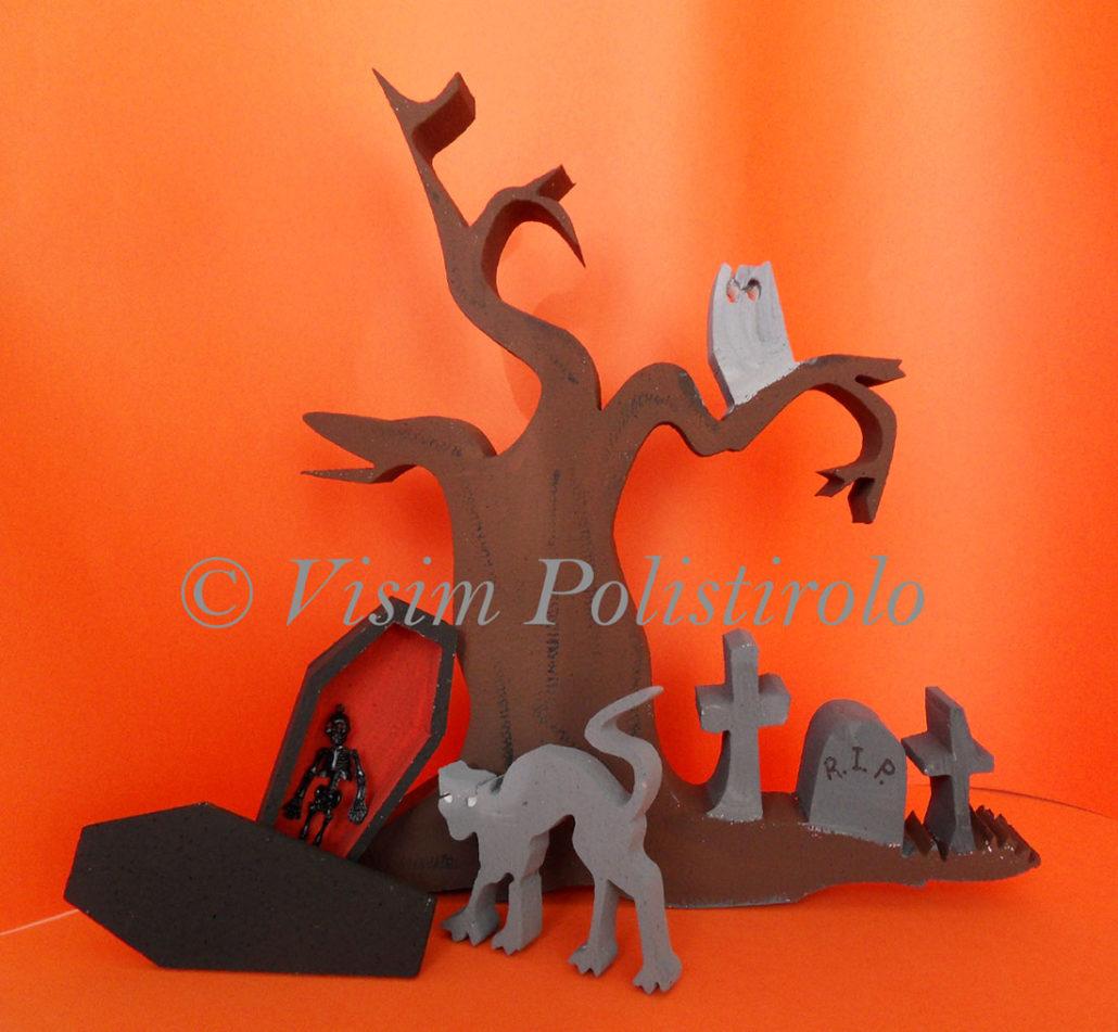 halloween polistirolo scenografia visim