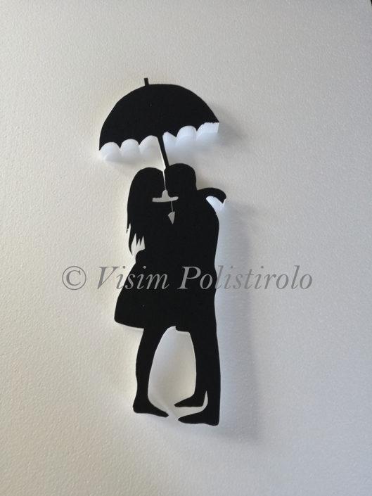 innamorati polistirolo murales decorazione