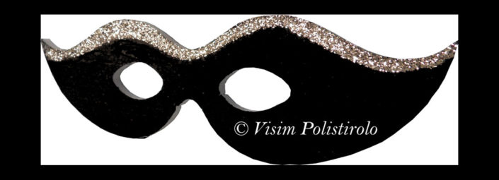 maschera carnevale visim polistirolo
