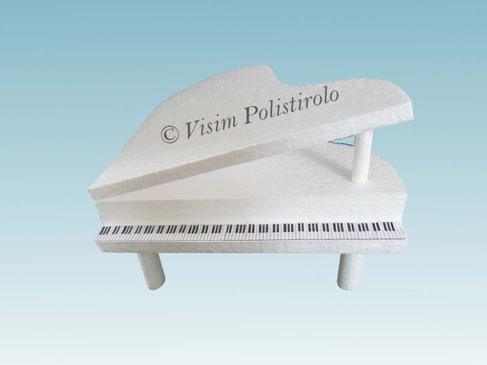 pianoforte polistirolo cake design