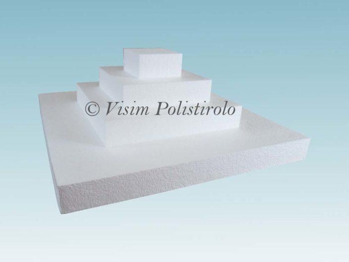 quadrati polistirolo base torta