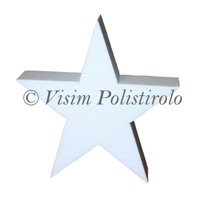 sagoma polistirolo stella eps festa polistirolo