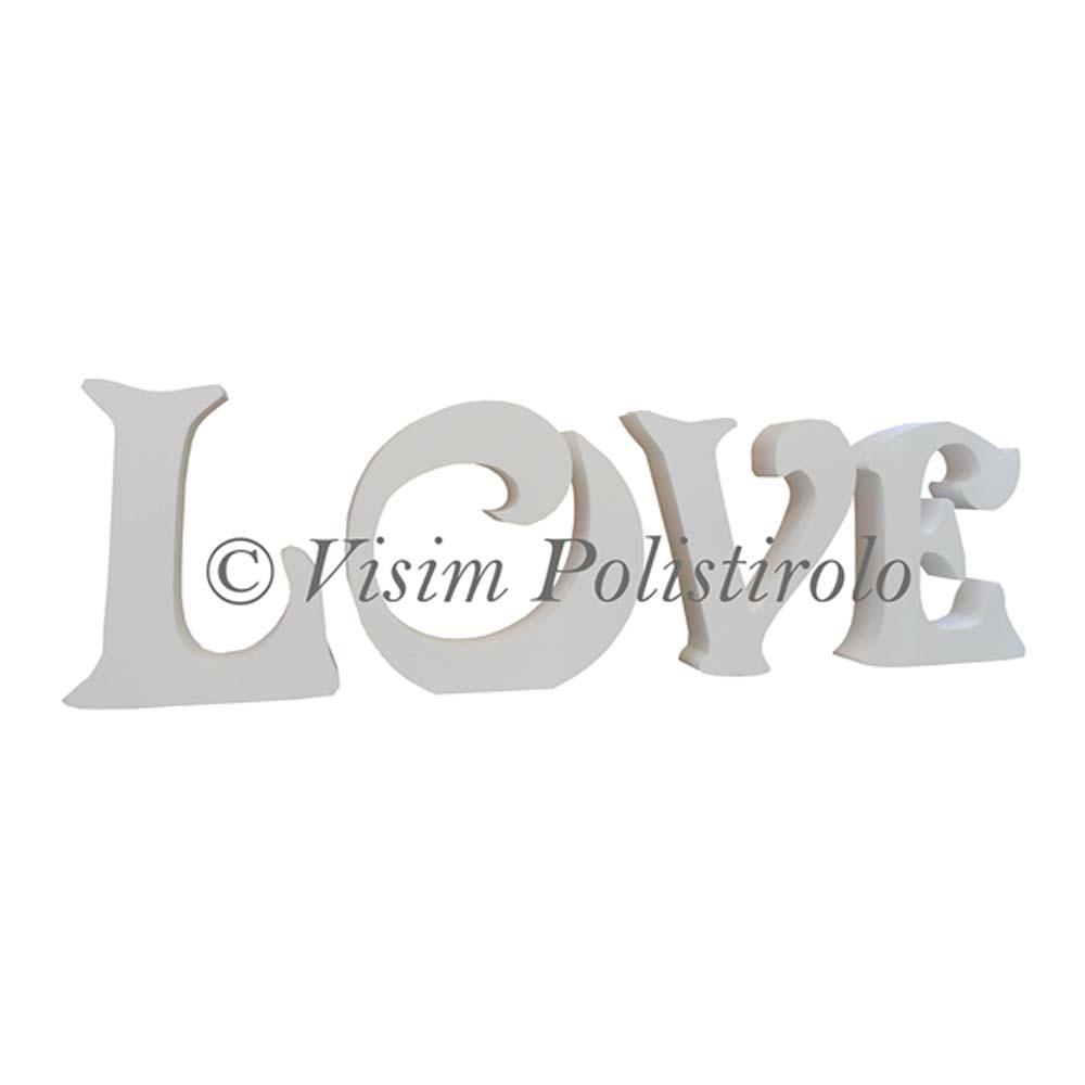 scritta love nozze polistirolo
