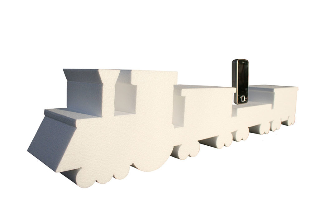 treno polistirolo