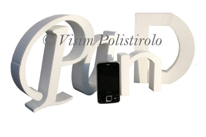 lettere eps polistirolo