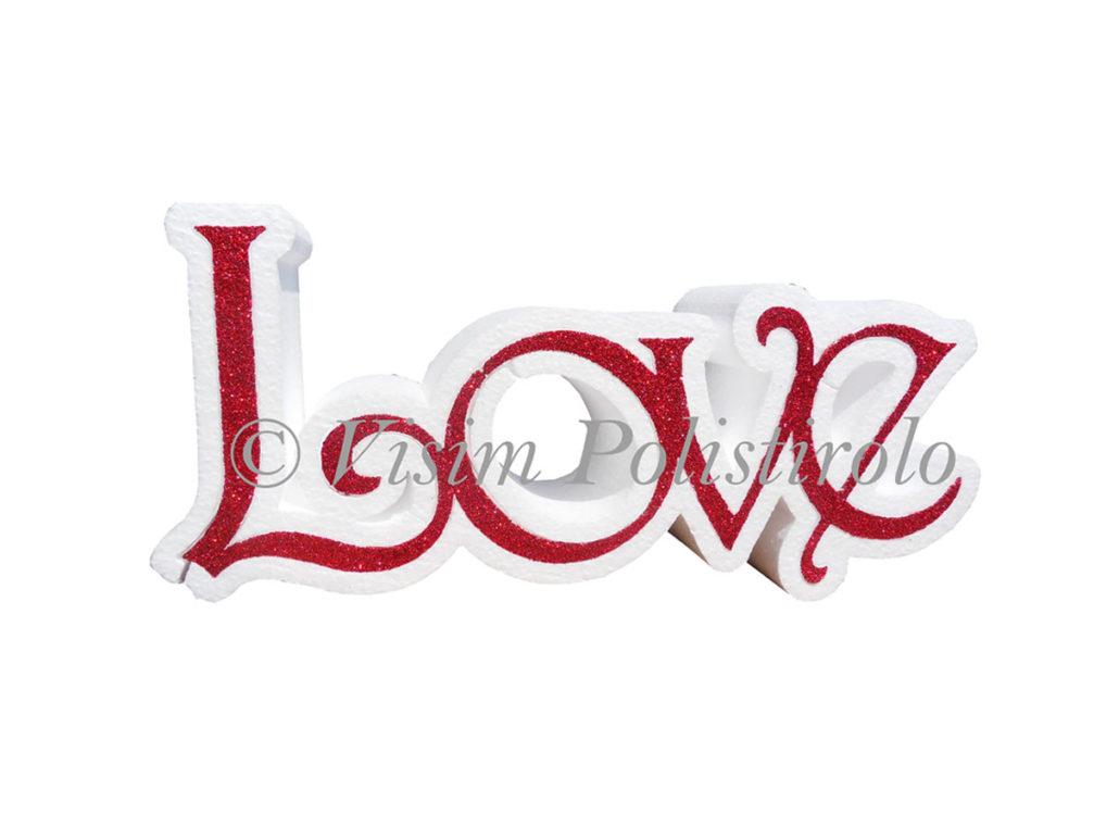 scritta amore polistirolo visim
