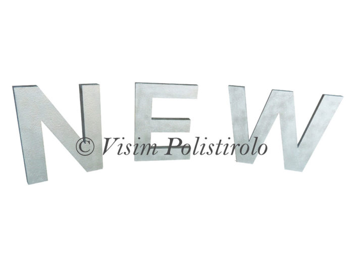 scritta new polistirolo visim