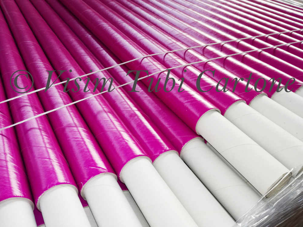 Tubi in cartone in tutte le misure e i colori visim srl for Tubi cartone